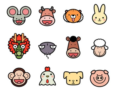 Fun Photo Editor: Vector Cute Chinese Zodiac