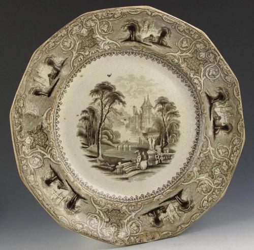 black transferware circa 1810