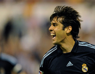 Kaka celebrating his goal