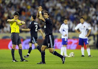 Raul celebrating