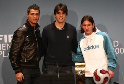 Kaká Backs Messi For Ballon d'Or
