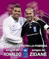 Legends Ronaldo and Zinedine Zidane team up for charitable purposes.