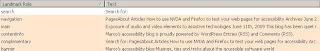 ukázka landmarků na blogu Marca Zehe
