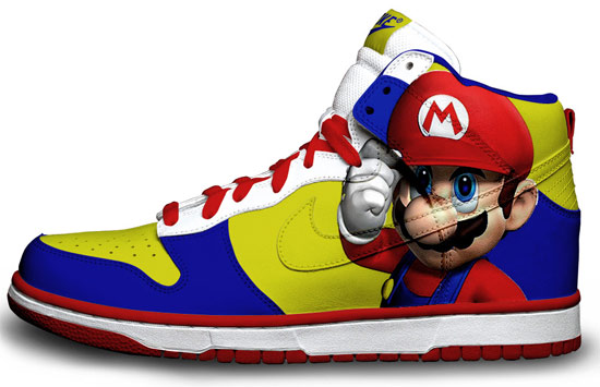 Trainers/ Sneakers/ Dappers (if you are welsh) Super-mario-sneakers