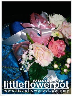 blue wedding silk flowers