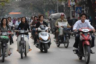 Hanoi Vietnam Scooters