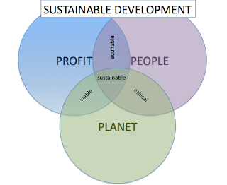 Sustainable Development Interlinking Circles Chart