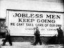 Great Depression: Jobless Men Keep Going