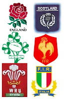 Six Nations Rugby Countries Flags