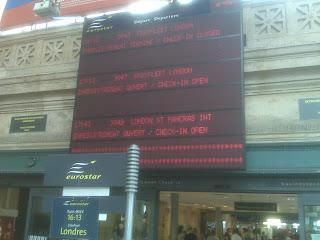 Gare du Nord Panneau