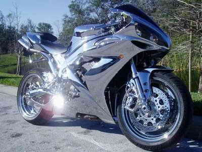 Yamaha YZF R1 Full Chrome   Motorcycle Case