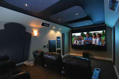 Basement home theater designs