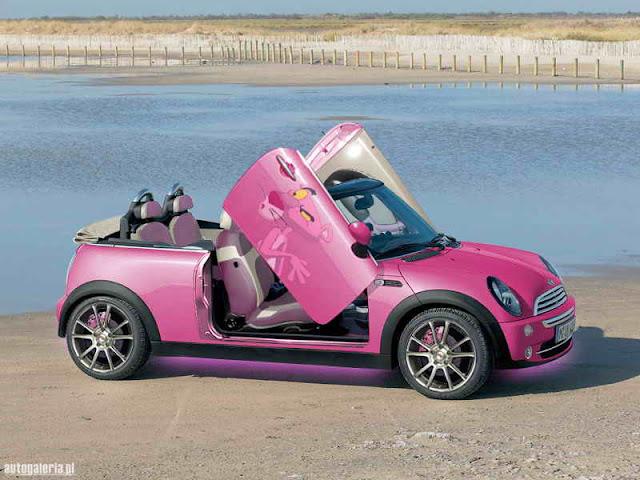 Custom Pink Smart Car