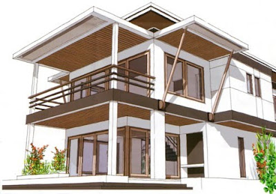 Picture house design house minimalist home tropical for Tropical minimalist house design