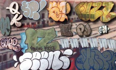 graffiti bubble letters alphabet