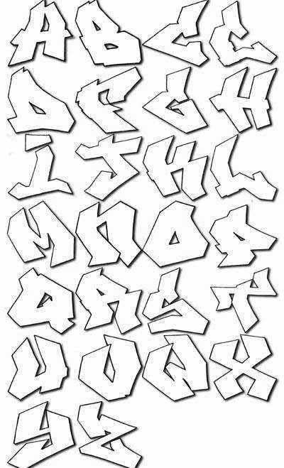 graffiti lettering alphabet. graffiti lettering alphabet.