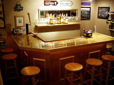 Home  Design on Customized Home Bar Plans And Bar Building Designs