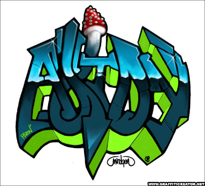 graffiti characters gas mask. graffiti letters free