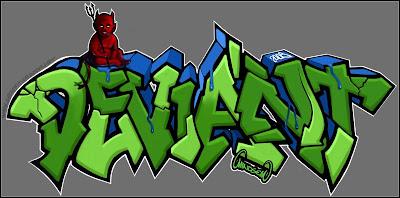 Alphabet Graffiti D Draw Arrows Pilox Cool Green Bubble