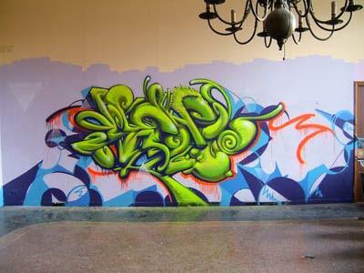 Graffiti Alphabet Bubble Green