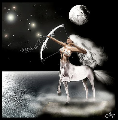 Sagittarius zodiac symbols of black and white design cool