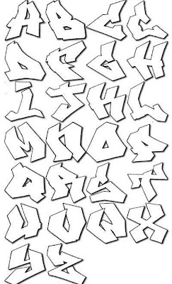 graffiti tagging alphabet letters