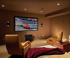 home theater room design ashley furniture sofa. beautiful ideas. Home Design Ideas