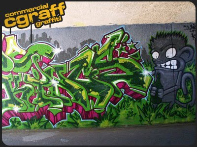 Art Painting Graffiti Alphabet Green