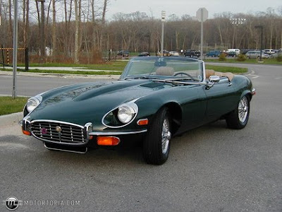 Cheap Car 1973 Black Jaguar XKE Roadster