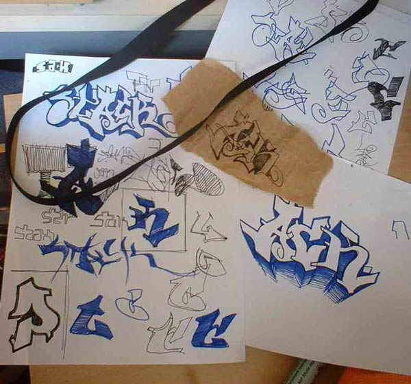 graffiti art sketches. Alphabet Graffiti Sketches