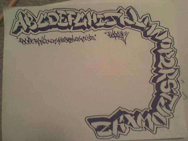 graffiti-alphabet-letters-easy-make. Any idea how to draw graffiti like