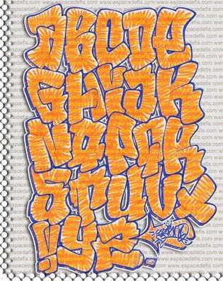 Orange Graffiti Alphabet Letters. Graffiti Alphabet Letters A-Z. at 3:18 PM
