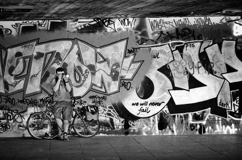 Graffiti Style Black And White in London. Photographer graffiti street art