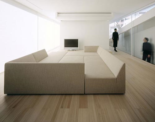 Japanese minimalist design unique house for Minimalist house interior