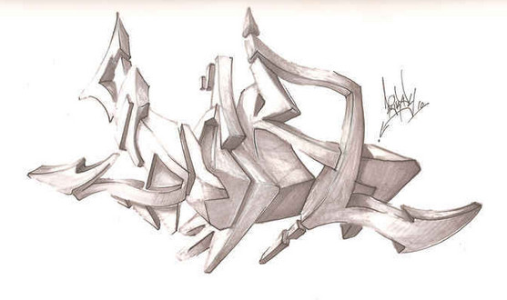Graffiti Art Sketches 3d Graffiti Sketches 3d Graffiti