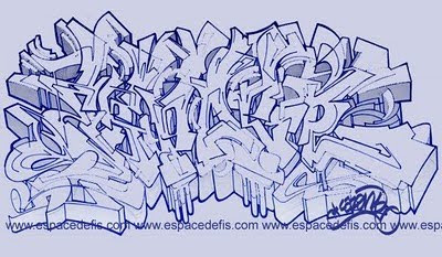 Graffiti sketches, http://amazing-graffiti.blogspot.com/