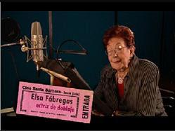 Actriz de doblaje Elsa Fábregas