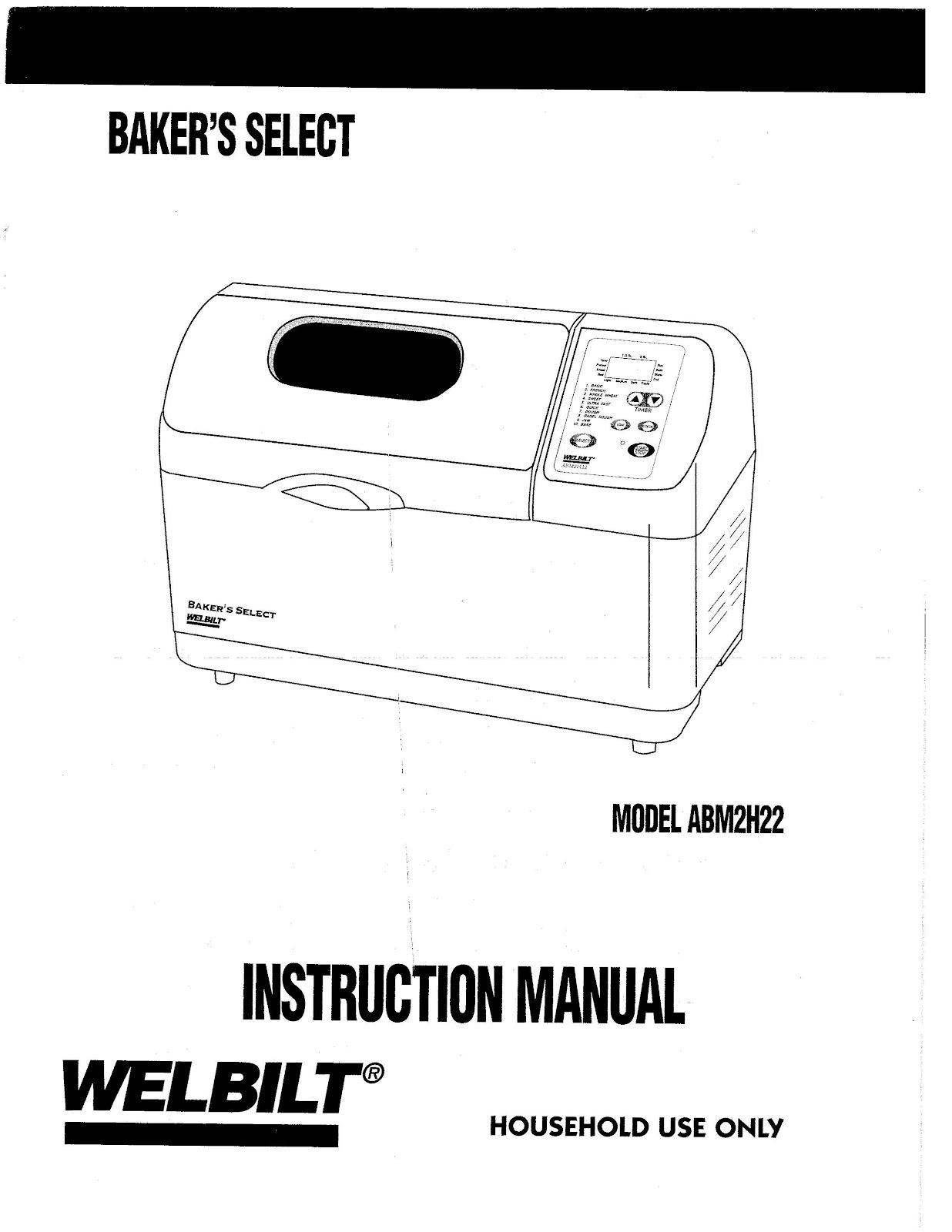 welbilt bread machine blog model abm2h22 welbilt bread machine rh welbiltbreadmachine blogspot com  welbilt bread machine abm2h60 recipes