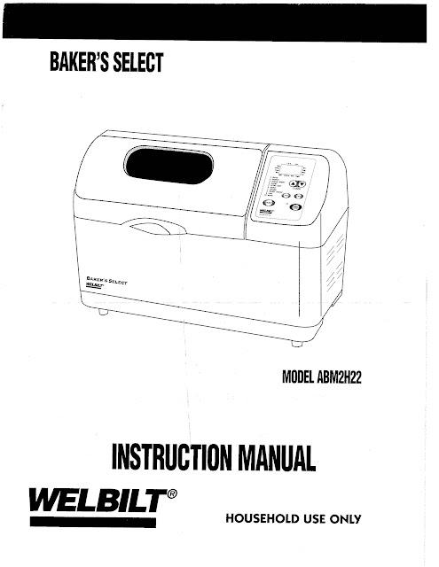 welbilt bread machine model abm3400 instruction manual research rh vjcourseworkgyum srgi info  welbilt abm 3400 manual