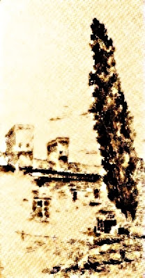 Casa amb xiprer (Ovidio Murguía de Castro)