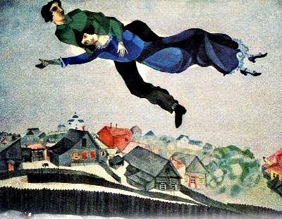 Sobre la ciutat (Marc Chagall)