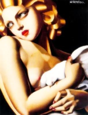 Dona amb coloma (Tamara de Lempicka)