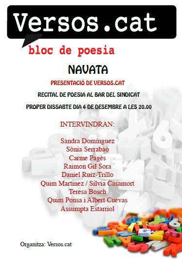 Recital de poesia a Navata (Versos.cat)