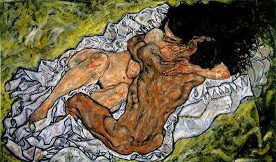 Amants abraçats II (Egon Schiele)