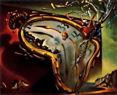 Rellotges tous en el moment de la seva primera explosió (Salvador Dalí)