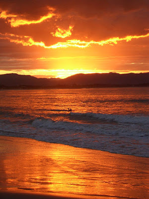 Photo of sunset over Byron Bay Australia