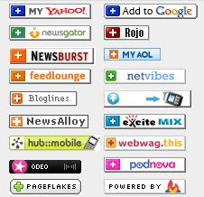 Social bookmarking icon clutter