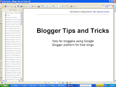 Blogger Tips and Tricks PDF book