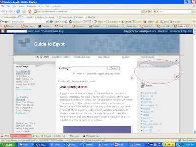 Guide to Egypt blog with only one referral link displayed