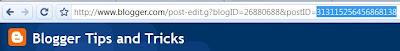 URL of Blogger's edit post